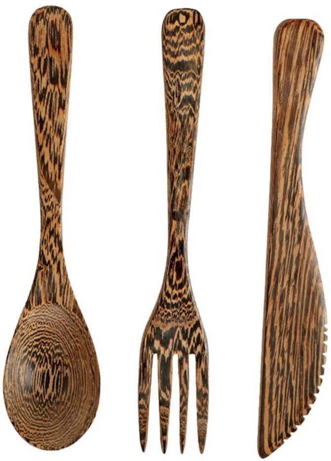 Topbathy Wooden Cutlery Set