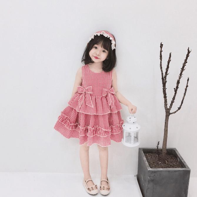 Twinkle + Kids checkered dress