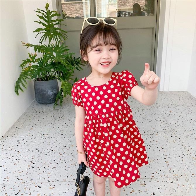 Twinkle + Kids polka dot dress