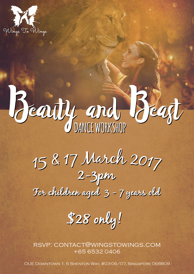 Wings to Wings Beauty and the Beast dance workshop