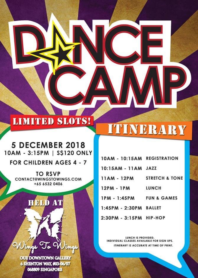 W2W DANCE CAMP 4 6 yrs Dec 2018