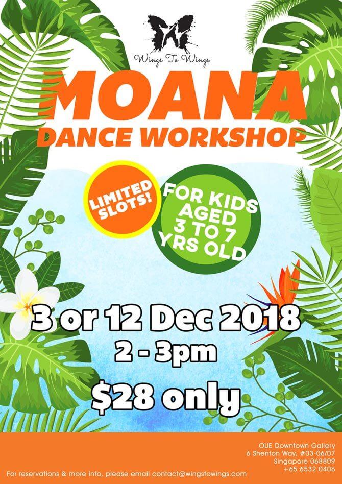 W2W Moana Dance Workshop Dec 2018