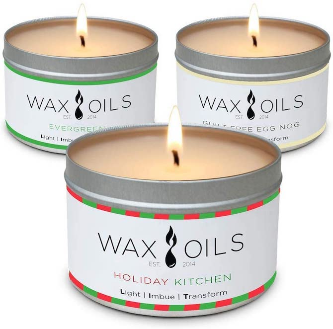 Wax & Oils Soy Aromatherapy Candles