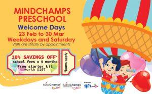 MindChamps PreSchool Welcome Days Feb-Mar 2019
