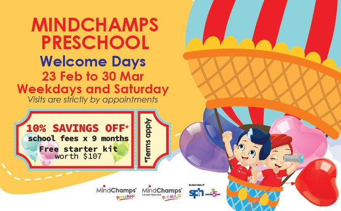 MindChamps PreSchool Welcome Days Feb-Mar 2019