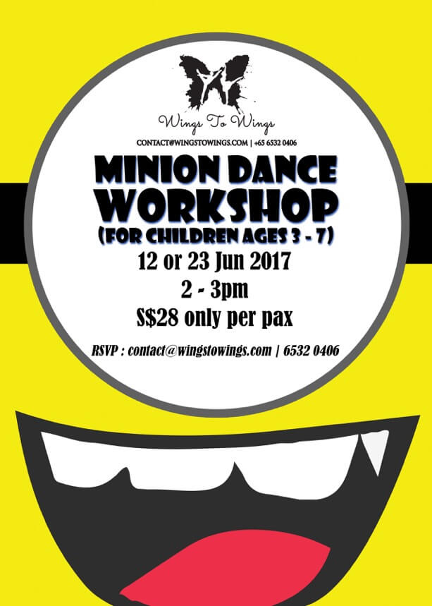 Wings to Wings Minion Dance Workshop June 2017