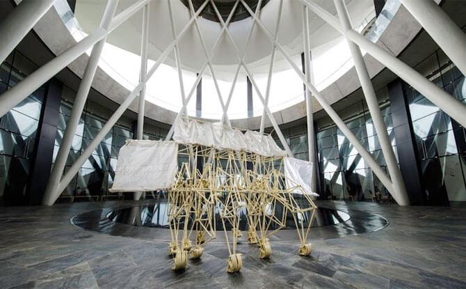 Wind Walkers: Theo Jansen's Strandbeests At ArtScience Museum