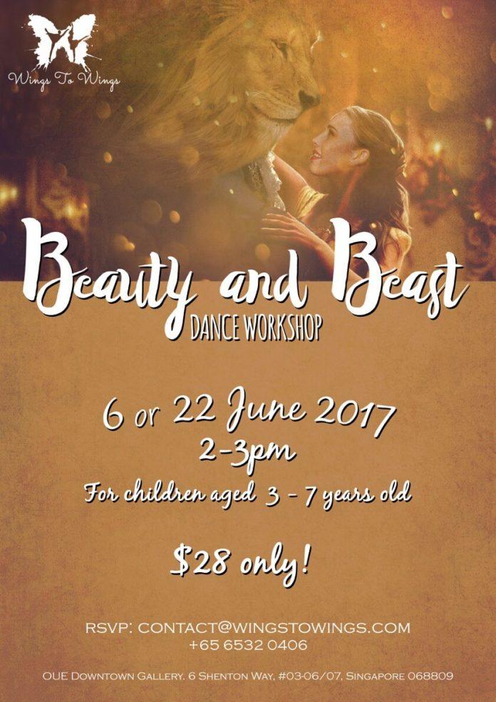 Wings to Wings Beauty Beast workshop June 2017