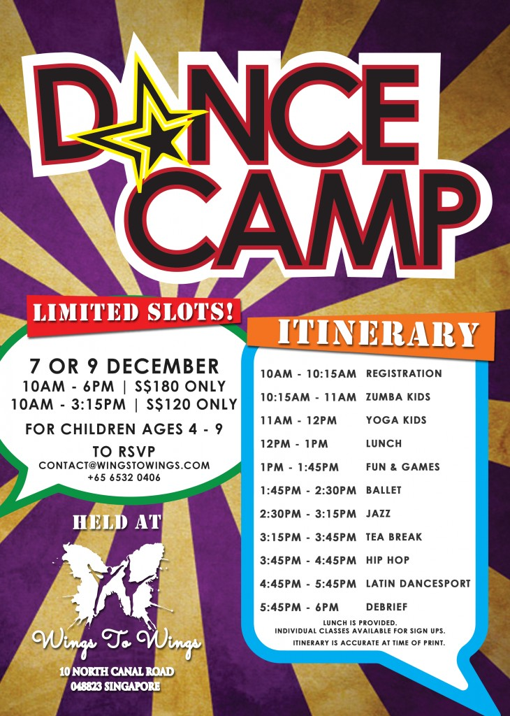 Wings to Wings' holiday dance camps