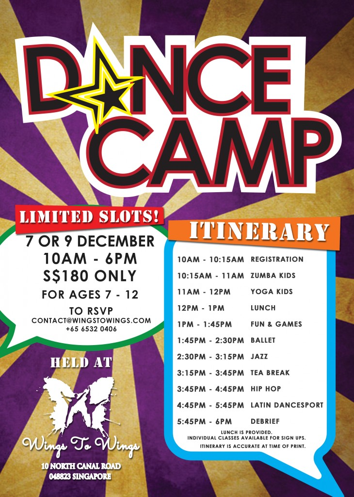 Wings to Wings' Holiday Dance Camp 9 Dec 2016