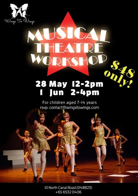 Wings to Wings Musical Theatre Workshop poster