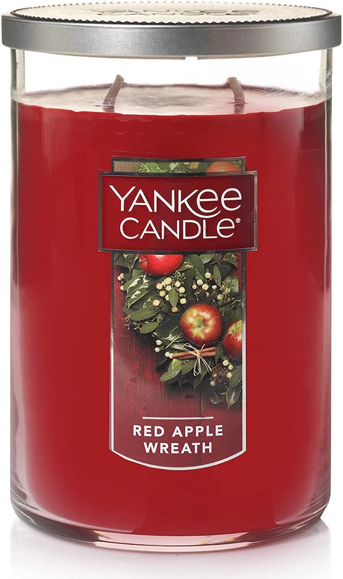 Yankee Candle Large Tumbler Candle in Red Apple Wreath