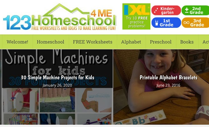123 HomeSchool - Useful stay-at-home resources