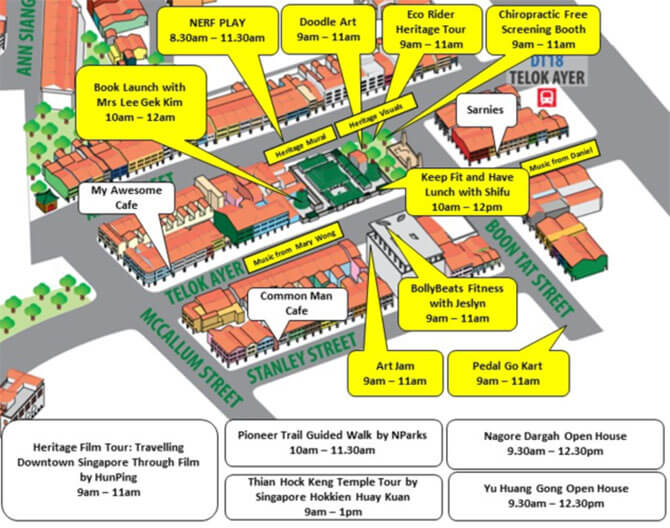 Telok Ayer Map - Car-Free Sunday July 2018