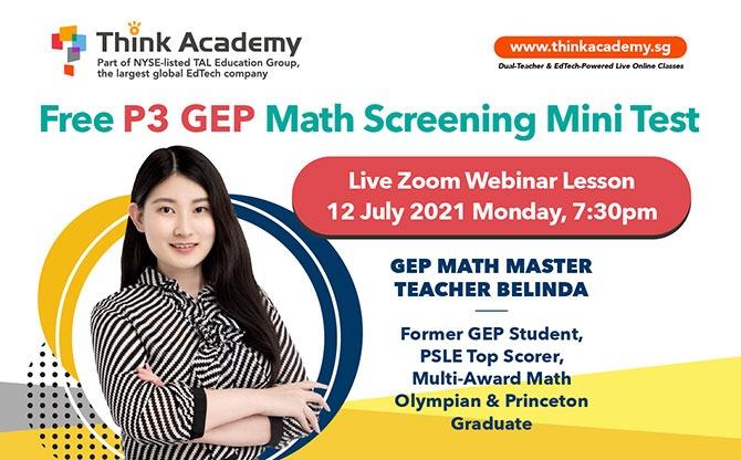 P3 GEP Mini Screening Test & Live Zoom Webinar Lesson (FREE)