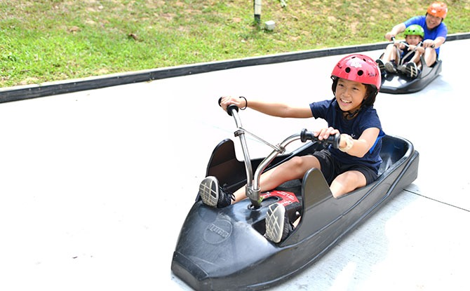 Choose from 4 Exciting Trails - Skyline Luge Sentosa