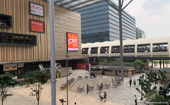 Paya Lebar Quarter is next to the Paya Lebar MRT Station