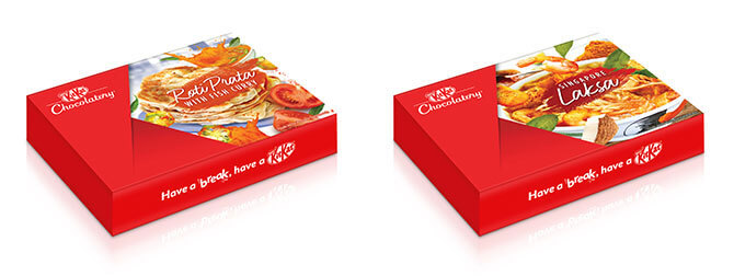 Roti Prata With Fish Curry, Singapore Laksa. These Are KITKAT Flavours Coming Soon At KITKAT Chocolatory Stores.