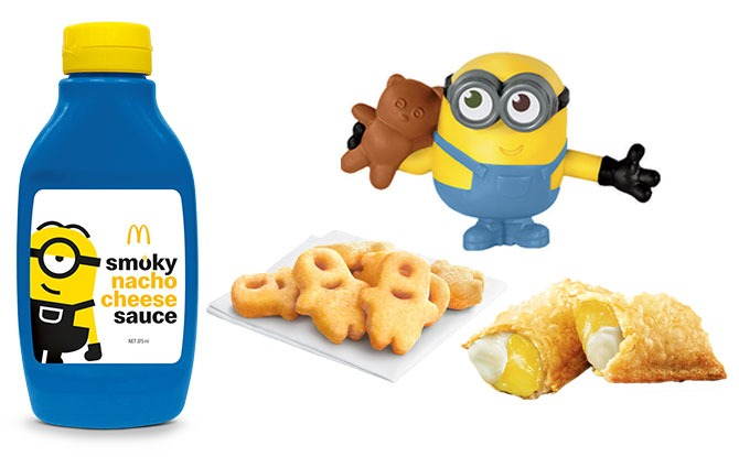 Minions At McDonald's Singapore: Nacho Cheese, Yuzu Cream Cheese Pie, Melon Waffle Cone & The Golden Minion