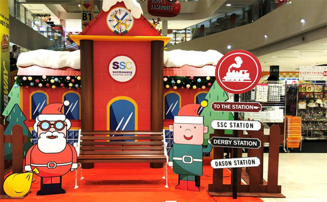 Santa Claus is Coming to Sembawang Town - Stop by at the Train Station