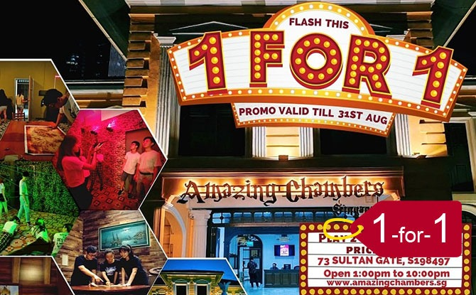 Amazing Chambers Singapura: Escape Room: 1 for 1 National Day Promo 2020