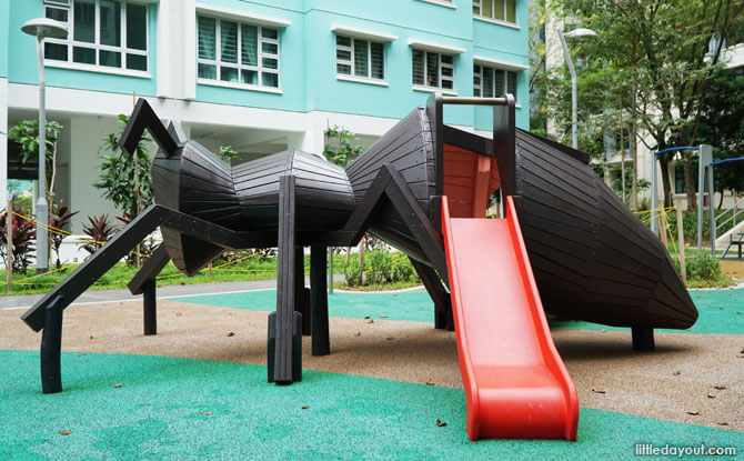 Slide at the ant playground structure