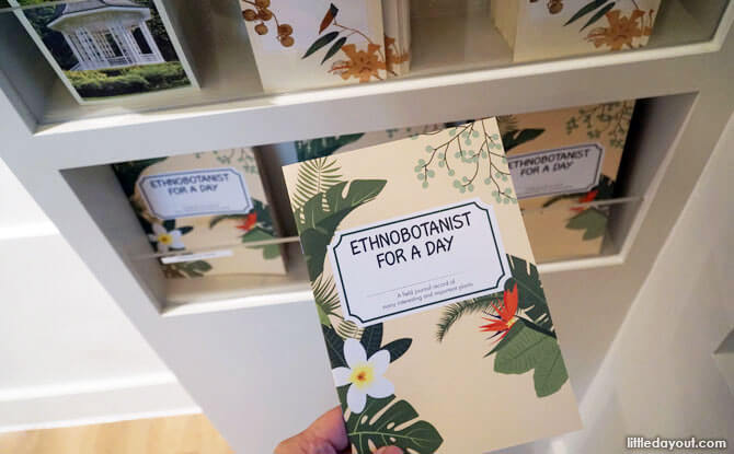 Children can pick up an activity booklet, Ethnobotanist for a Day.