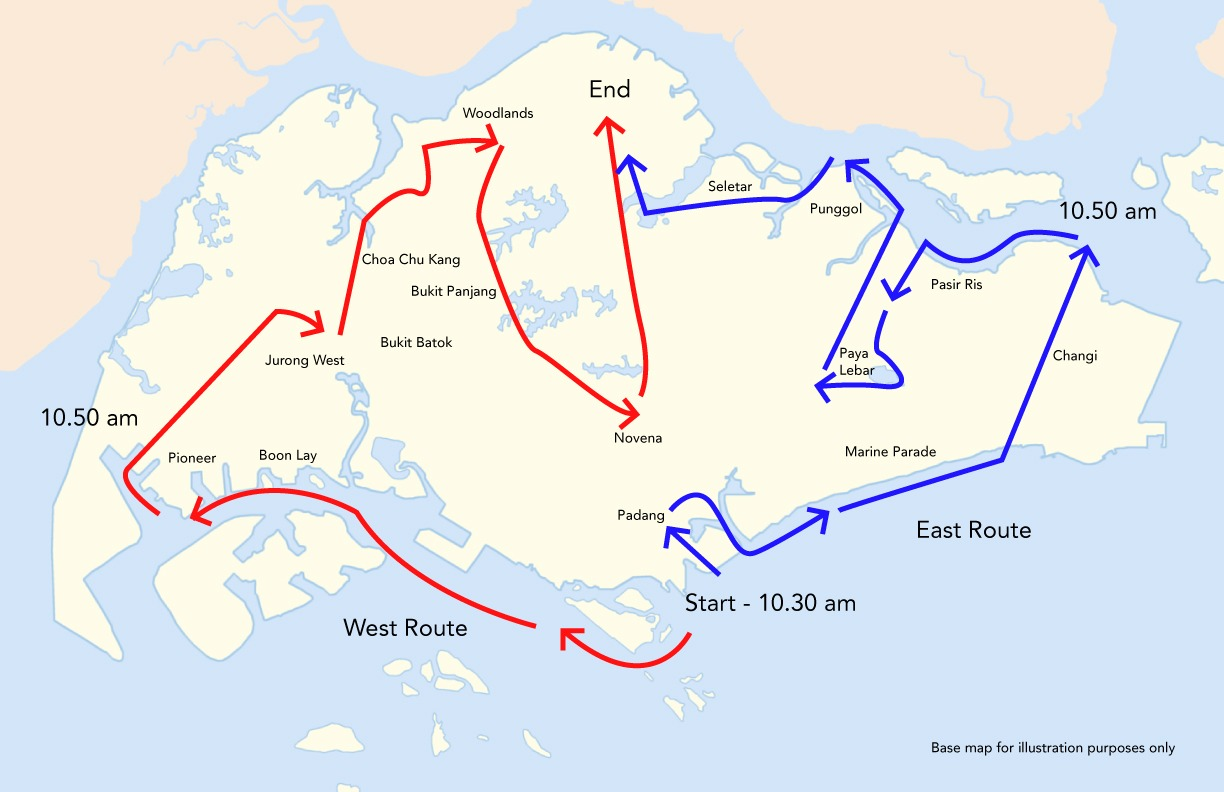 NDP2020 Fly Past: State Flag To Take East And West Routes On 9 August
