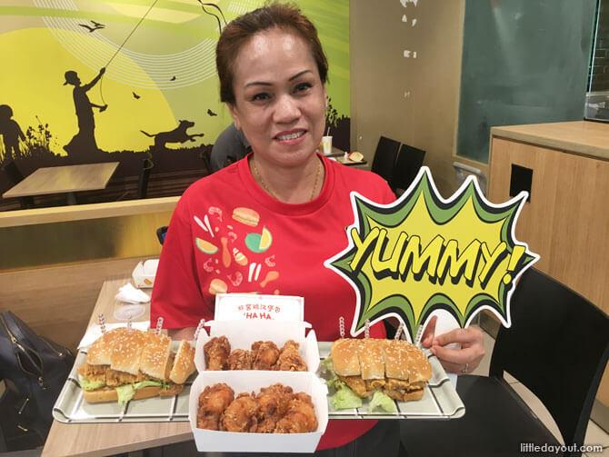 McDonald's Ha Ha Cheong Gai Burger