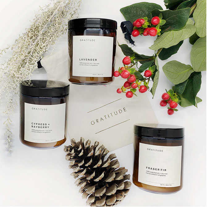 Gratitute's Soy Candles, 2 for $45