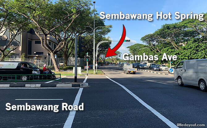 Sembawang Hot Spring Location