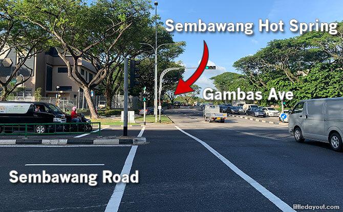 Sembawang Hot Spring Location