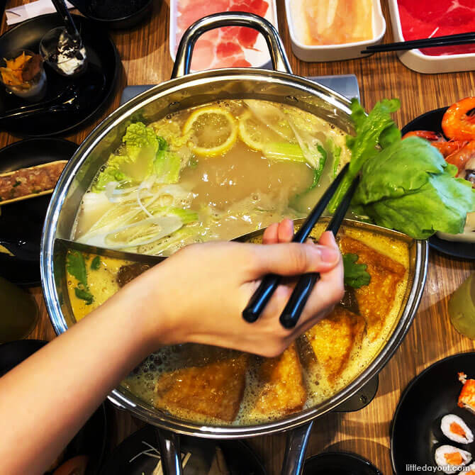 Lemon soup base shabu shabu