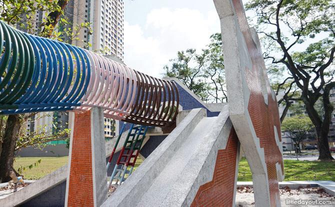 Slides at the Dragon Playground