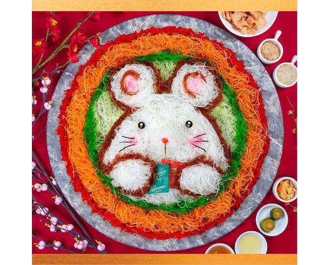 Umisushi umi Huat Huat Year of the Rat Yu Sheng Design