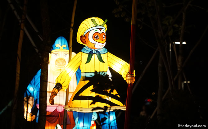 Journey to the West is depicted in lanterns - Mid-Autumn Festival 2019 at Jurong Lake Gardens