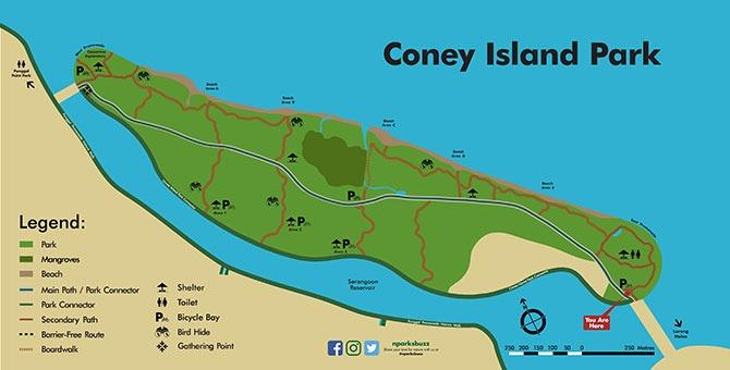 Coney Island Park Map