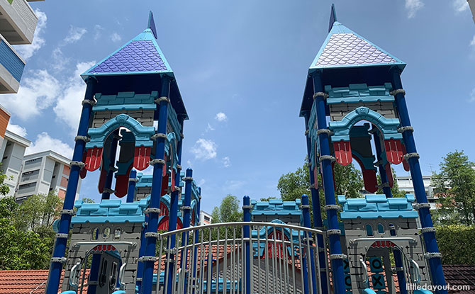 Castle Playground In Yishun: Man The Blue Battlements