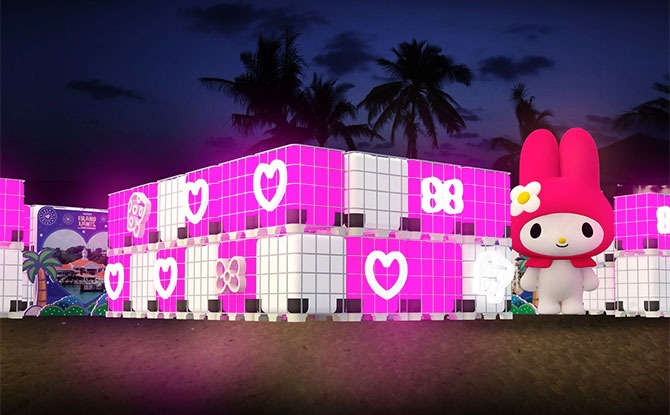 My Melody at Sentosa's Island Lights 2020