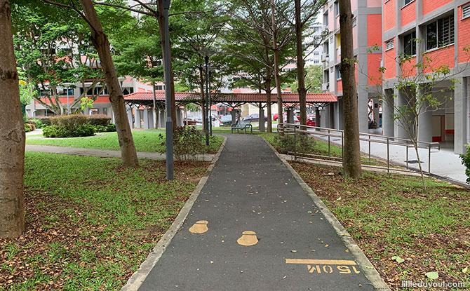 Footpaths at Simei Street 4