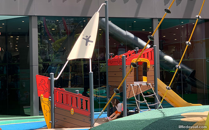 Ship play area at Great World shopping centre