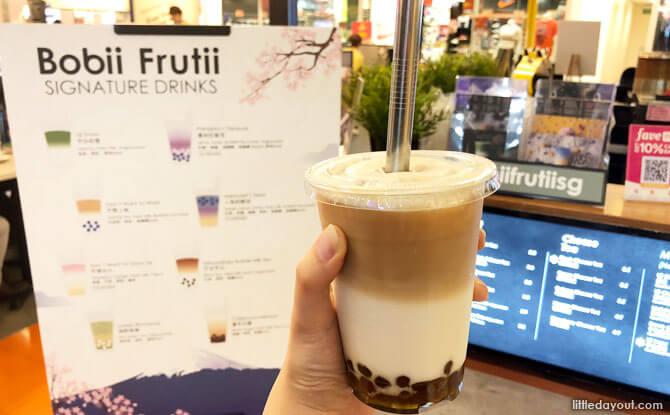 Milk Tea with Brown Sugar Peals