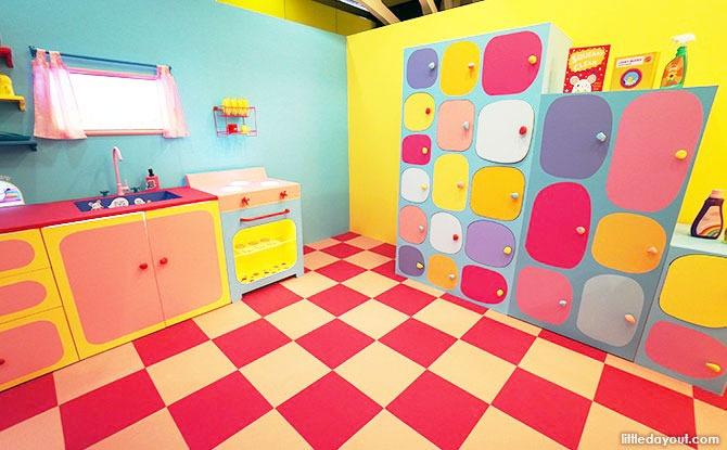 laundry area with its unique shelf of surprises