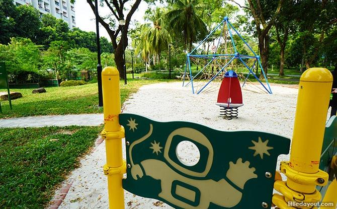 Rocket Ship at Bedok Town Park Playground