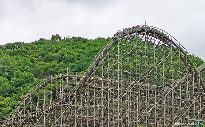 World's steepest wooden roller coaster, T Express