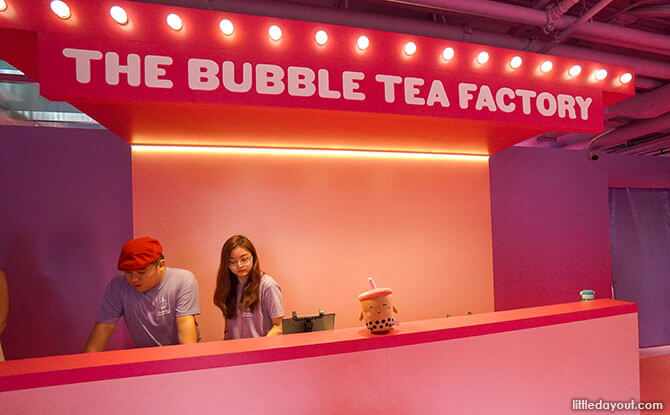 Go On An Giant Boba Adventure At The Bubble Tea Factory at the Bubble Tea Factory SG