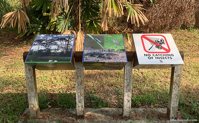 Signboards at Tampines Eco Green