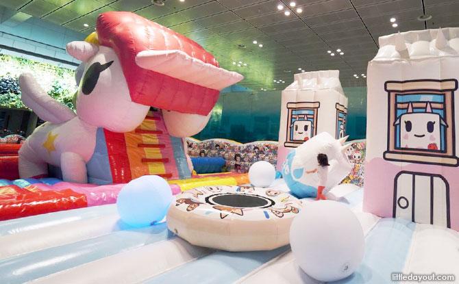 tokidoki inflatable playground at Changi Airport