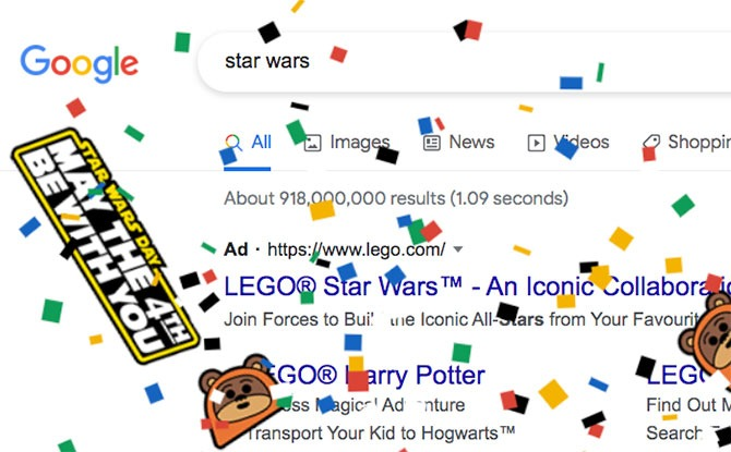 Google Celebrates May The 4th With Star Wars Confetti