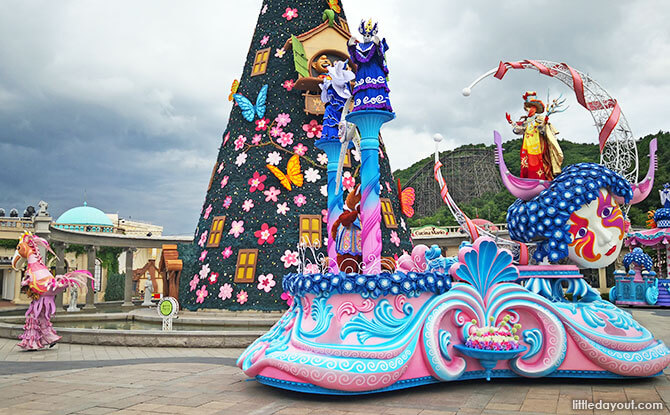 Parade Time at Everland Theme Park with Kids